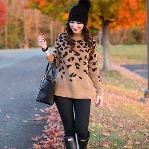 Old Navy Cheetah Print Sweater